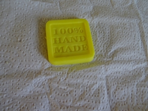 Yellow soap with pineapple fragrance oil