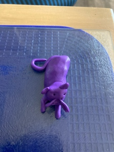 Purple Polymer Clay Cat