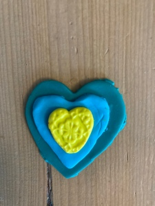 Layered, Multicolor Polymer Clay Heart